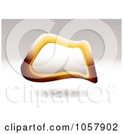 Royalty Free Vector Clip Art Illustration Of A 3d Orange Pebble Sign With Copyspace