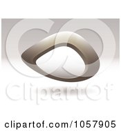 Royalty Free Vector Clip Art Illustration Of A 3d Tan Pebble Sign With Copyspace