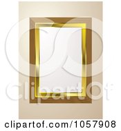Royalty Free Vector Clip Art Illustration Of A Golden And Wooden Picture Frame With Copyspace by michaeltravers