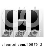 Royalty Free Vector Clip Art Illustration Of A Digital Collage Of Three Black Display Signs