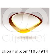 Royalty Free Vector Clip Art Illustration Of A 3d Yellow Pebble Sign With Copyspace