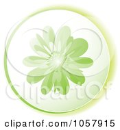 Royalty Free Vector Clip Art Illustration Of A Green Flower Icon by michaeltravers