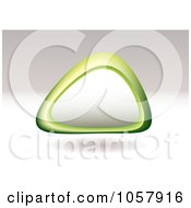 Floating 3d Triangular Shaped Pebble With Copyspace