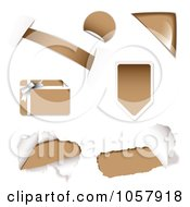 Royalty Free Vector Clip Art Illustration Of A Digital Collage Of Brown Design Elements by michaeltravers