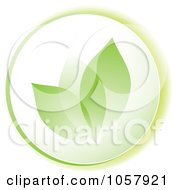 Royalty Free Vector Clip Art Illustration Of A Green Leaf Icon by michaeltravers