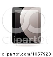 Royalty Free Vector Clip Art Illustration Of A Shiny Black Computer Tablet by michaeltravers