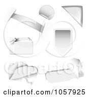 Royalty Free Vector Clip Art Illustration Of A Digital Collage Of Silver Design Elements by michaeltravers