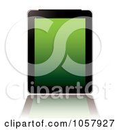 Royalty Free Vector Clip Art Illustration Of A Computer Tablet With A Green Screen by michaeltravers