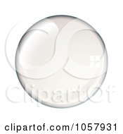 Royalty Free Vector Clip Art Illustration Of A Shiny Water Bubble by michaeltravers