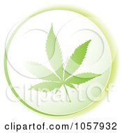 Royalty Free Vector Clip Art Illustration Of A Green Marijuana Icon by michaeltravers
