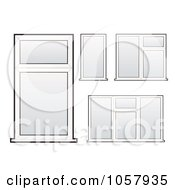 Royalty Free Vector Clip Art Illustration Of A Digital Collage Of Windows