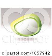 Floating 3d Shaped Pebble With Copyspace