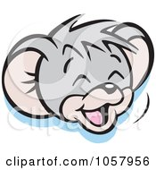 Royalty Free Vector Clip Art Illustration Of A Micah Mouse Laughing by Johnny Sajem