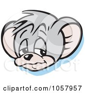 Royalty Free Vector Clip Art Illustration Of A Sad Micah Mouse Pouting by Johnny Sajem