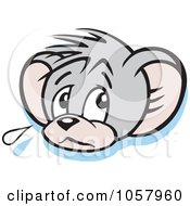 Royalty Free Vector Clip Art Illustration Of A Sad Micah Mouse Crying by Johnny Sajem