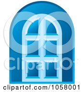Royalty Free Vector Clip Art Illustration Of A Blue Door Icon by Lal Perera