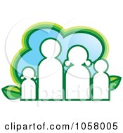 Royalty Free Vector Clip Art Illustration Of A White Eco Family Icon