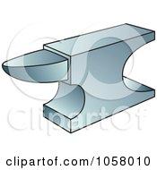 Royalty Free Vector Clip Art Illustration Of An Anvil