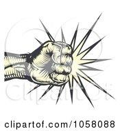 Fist Making Impact