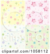 Royalty Free Vector Clip Art Illustration Of A Digital Collage Of Seamless Patterned Backgrounds