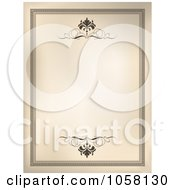 Royalty Free Vector Clip Art Illustration Of A Vintage Frame With Scrolls