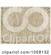 Royalty Free CGI Clip Art Illustration Of A Wrinkled Grungy Frame Paper Background