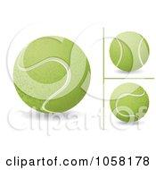 Digital Collage Of 3d Tennis Balls