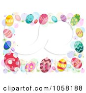 Royalty Free Vector Clip Art Illustration Of An Easter Frame Of Colorful Eggs And Dots
