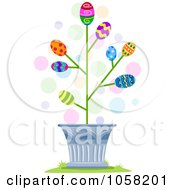 Royalty Free Vector Clip Art Illustration Of A Tree Blossoming Easter Eggs