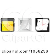 Royalty Free Vector Clip Art Illustration Of A Digital Collage Of 3d Wall Clocks With Droplets by Andrei Marincas