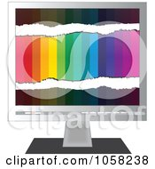 Royalty Free Vector Clip Art Illustration Of A Monitor With Colors by Andrei Marincas