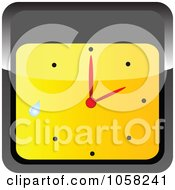 Royalty Free Vector Clip Art Illustration Of A 3d Black And Yellow Wall Clock With A Droplet by Andrei Marincas