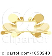 Royalty Free Vector Clip Art Illustration Of A 3d Golden Tube Banner With Copyspace