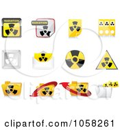 Royalty Free Vector Clip Art Illustration Of A Digital Collage Of 3d Radiation Icon Design Elements by Andrei Marincas