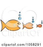 Royalty Free Vector Clip Art Illustration Of Three Orange Fish The Bigger Ones Eating The Smaller Ones