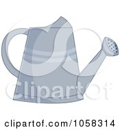 Royalty Free Vector Clip Art Illustration Of A Metal Watering Can 2 by Pams Clipart
