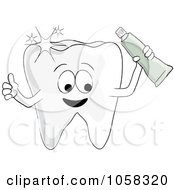 Sparkly Tooth Character Holding Paste