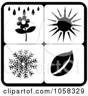 Royalty Free Vector Clip Art Illustration Of A Digital Collage Of Seasonal Icons 6