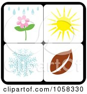 Royalty Free Vector Clip Art Illustration Of A Digital Collage Of Seasonal Icons 5 by Pams Clipart
