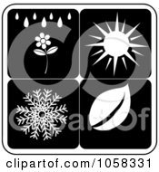 Royalty Free Vector Clip Art Illustration Of A Digital Collage Of Seasonal Icons 3