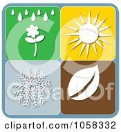 Royalty Free Vector Clip Art Illustration Of A Digital Collage Of Seasonal Icons 4