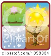Royalty Free Vector Clip Art Illustration Of A Digital Collage Of Seasonal Icons 1 by Pams Clipart