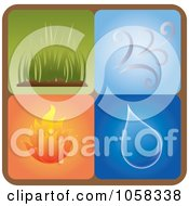 Royalty Free Vector Clip Art Illustration Of A Digital Collage Of Elements Icons 1 by Pams Clipart