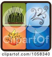 Royalty Free Vector Clip Art Illustration Of A Digital Collage Of Elements Icons 2 by Pams Clipart