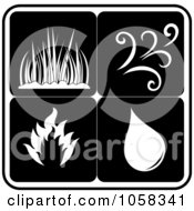 Royalty Free Vector Clip Art Illustration Of A Digital Collage Of Elements Icons 4 by Pams Clipart