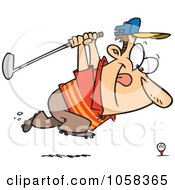 Royalty Free Vector Clip Art Illustration Of A Cartoon Approaching Golfer by toonaday