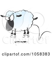 Royalty Free Vector Clip Art Illustration Of A Cartoon Bouncing Sheep by toonaday