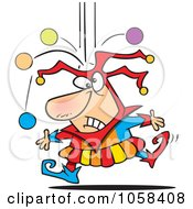 Royalty Free Vector Clip Art Illustration Of A Cartoon Joker Dropping Juggle Balls by toonaday