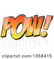Royalty Free Vector Clip Art Illustration Of A Cartoon POW