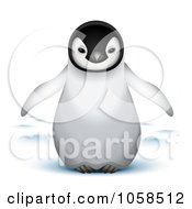Royalty Free Vector Clip Art Illustration Of A Cute 3d Baby Emperor Penguin